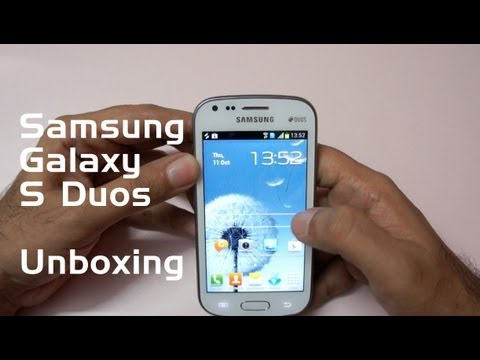 Samsung Galaxy S Duos Unboxing and first looks