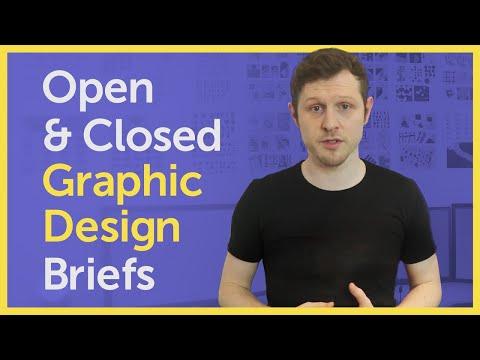 Open & Closed Graphic Design Briefs  |  Design brief examples