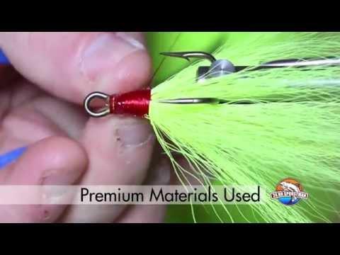 Tying Chartreuse Bucktail Dressed Treble Hook