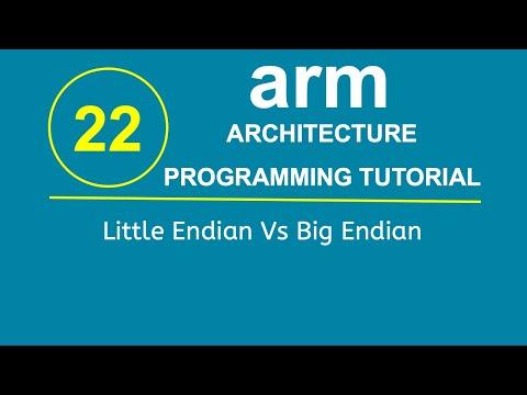 ARM Programming Tutorial 22- Little Endian Vs Big Endian