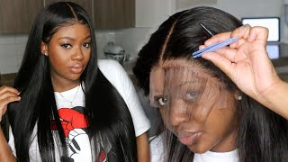Breathable Fake Scalp, Straight Transparent Lace Wig | Step by Step Install | | Dola Hair