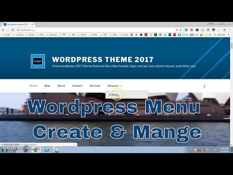 Wordpress Menu, category to menu, sub-menu