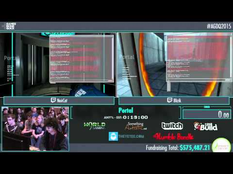 Awesome Games Done Quick 2015 - Part 138 - Portal by NoirCat and Blizik