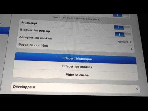 Supprimer les cookies de safari sur iphone,ipad - effacer ses traces sur internet