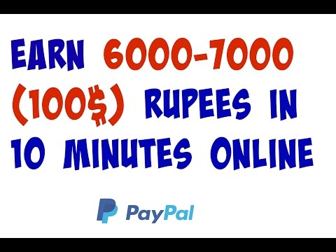 How to make money online  Earn 6000-7000 rupees online for working 10 minutes Daily 