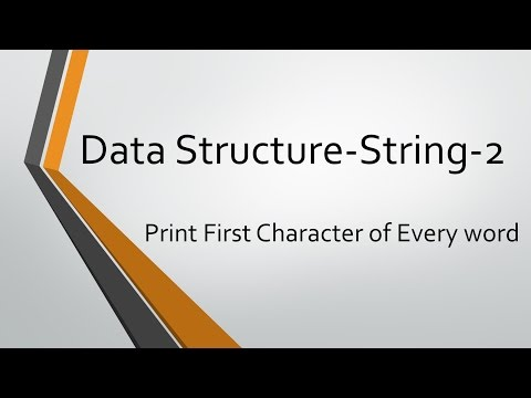String Problems - 2: Print first character of every word