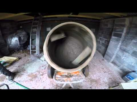 NEW Go Pro Hero 4: Cement Mixing To Fill  A Ballast Roller!