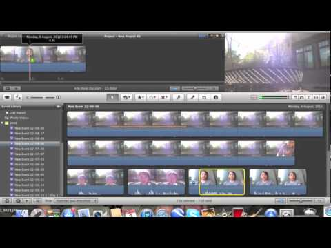 how to put two clips in one imovie 11 tutorial