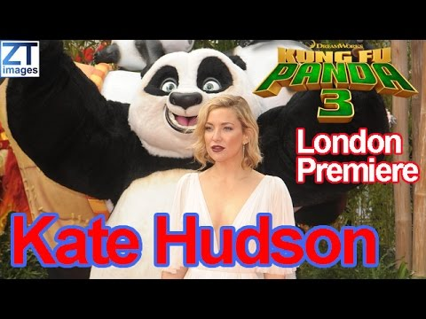Kate Hudson at film premiere Kung Fu Panda 3 held at Odeon London UK