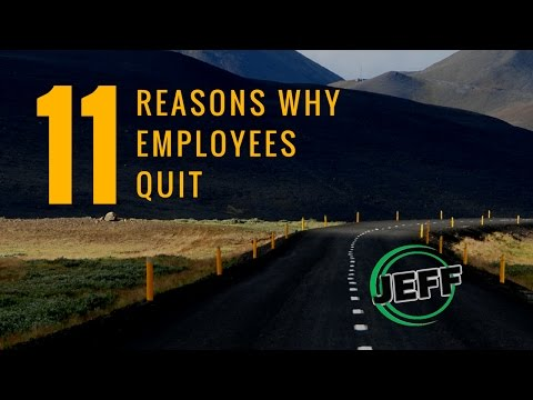 TOP 11 ACTUAL REASONS WHY EMPLOYEES LEAVE YOU
