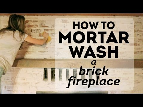 How to Mortar Wash a Brick Fireplace: Cottage House Flip Episode 2