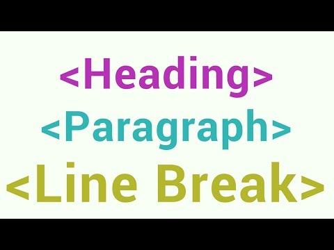 Tutorials on Html Heading, Paragraph, Line Break tags