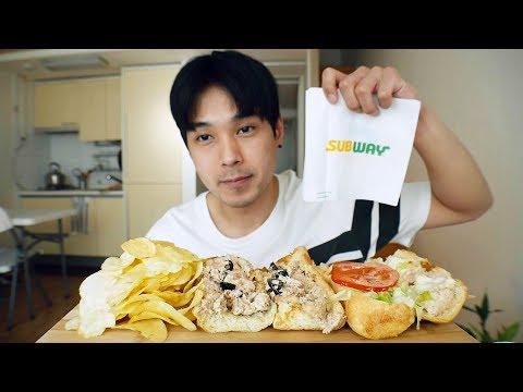 Tuna Sandwiches - MUKBANG