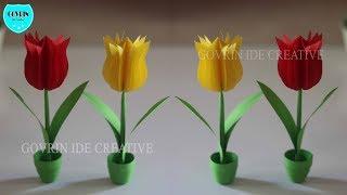 Tutorial membuat origami: Cara Membuat Origami Bunga Lily | 180x320