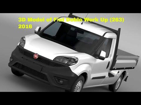 3D Model of Fiat Doblo Work Up (263) 2016