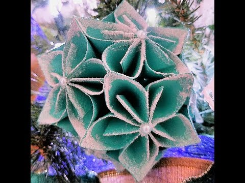 How to Make a Paper Flower Christmas Tree Ornament Tutorial