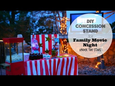 Family Movie Night Under the Stars with DIY Concession Stand