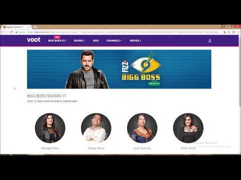 Bigg Boss 11 Vote on VOOT.COM or VOOT App, Here is How