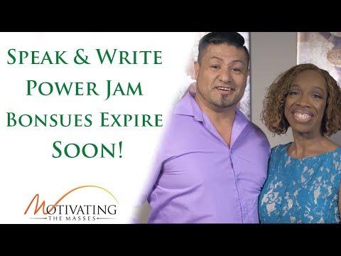 Power Jam Bonuses For Speak & Write Expire Sunday At Midnight!