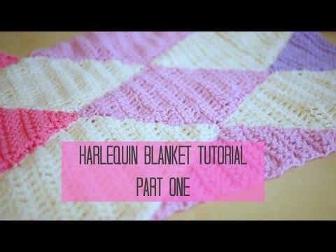 CROCHET: Harlequin / Diamond blanket part 1 | Bella Coco