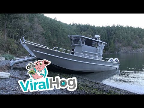 Amazing Boat Walks On The Shore