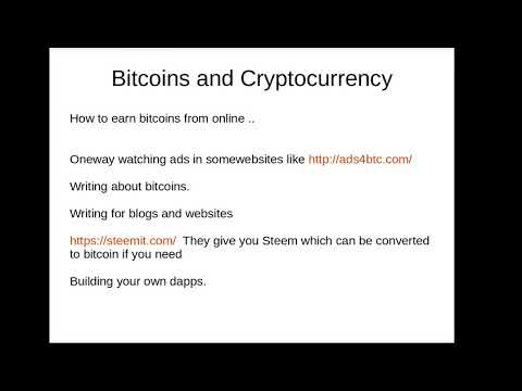 Introduction to Cryptocurrency and Bitcoins and how to earn it