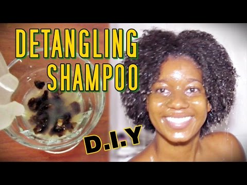 DIY Homemade DETANGLING Shampoo ft. African Black Soap | Itching, Flaking, Dry Natural Hair