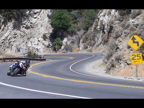 {Smooth, High Lean+corner speed style -PART-1} Fast ride up the cliffside -6000' drop. -NIDYANAZO R1