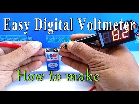 How to make digital voltmeter