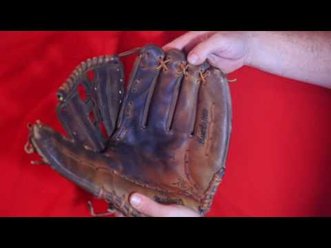 MacGregor MT2S Baseball Glove Relace - Before and After Glove Repair