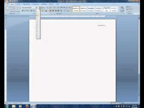 How to Format Documents to MLA Format in MS Word 2007 Like A Professional