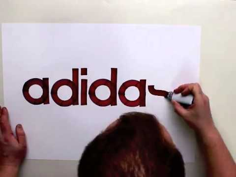 Real neat way to draw the Adidas logo