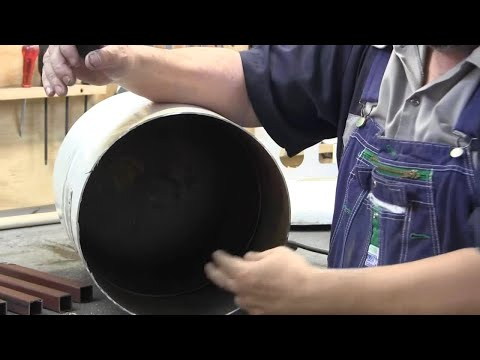 How to build a propane tank rocket stove 1/3