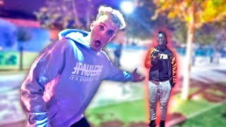 I CONFRONTED KSI'S LITTLE BRO IN PERSON!!