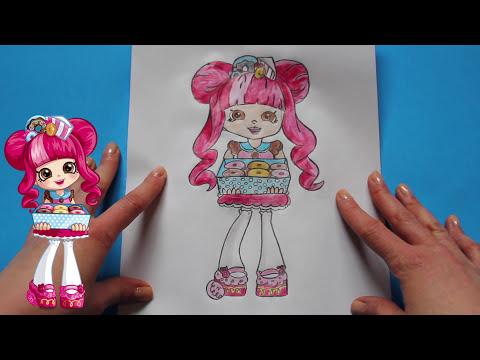 How to Draw Shopkins Shoppies Dolls