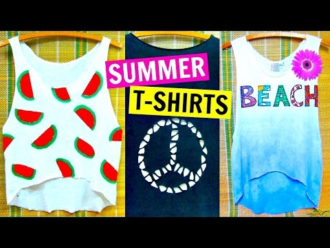 DIY Clothes | Easy No Sew T-shirt Ideas Inspired by Tumblr