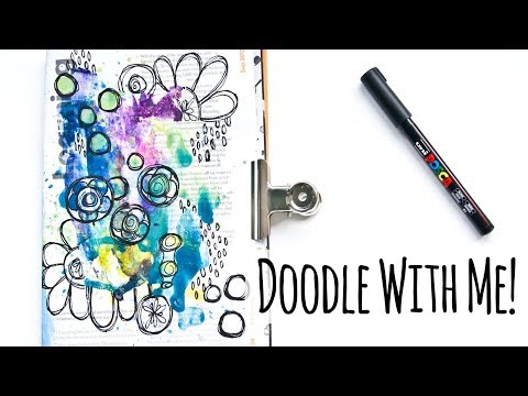 Easy Doodle Exercise For Your Mixed Media Art Journals