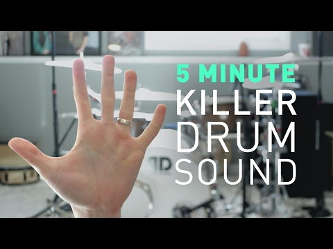 5 Minutes to a KILLER DRUM SOUND (Recording tips) | vlog #60