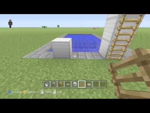 Swimming Pool + Diving Boards Tutorial - Minecraft Xbox 360