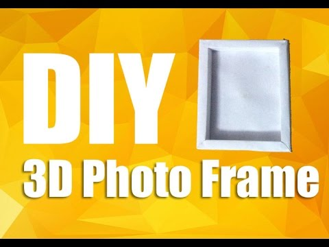 How To Make A Paper Photo Frame - DIY 3D Photo Frame | The DIY Stop