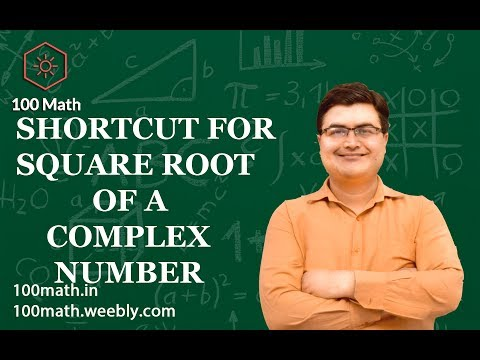 Shortcut For Square Root Of A Complex Number By- Sumit Luthra