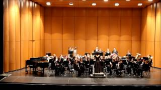 The Central Connecticut State University Symphonic Band performs Three London Miniatures by Mark Camphouse.  I. Westminster Hymn II. For England