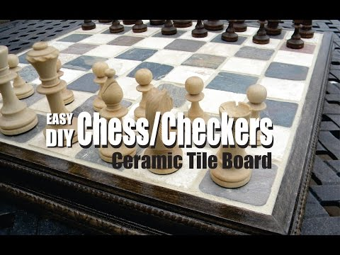 How to make a Ceramic Tile Chess or Checkers Board