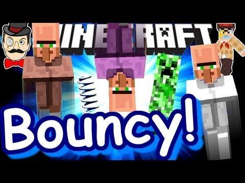 Minecraft BOUNCY CASTLE! Springy Build!