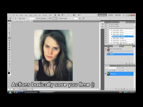 Photoshop - How To Use Actions