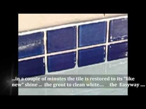 Easyway Tile & Grout Cleaner -MGM Pool Tile Demo