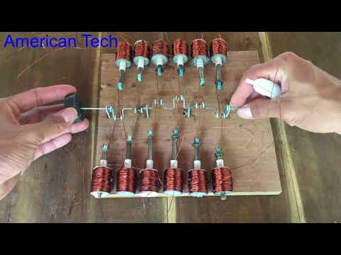 V12 solenoid engine , science project 2018 , awesome idea