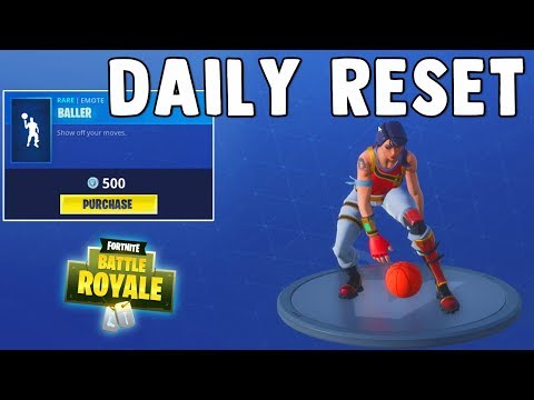 NEW BALLER EMOTE IS SICK!! Fortnite Daily Reset & NEW Items in Item Shop