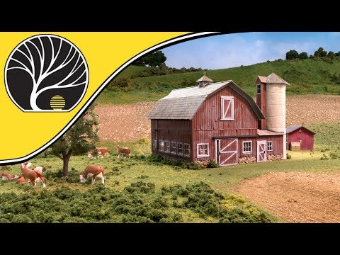 Old Weathered Barn – O Scale | Built-&-Ready® | Woodland Scenics | Model Scenery