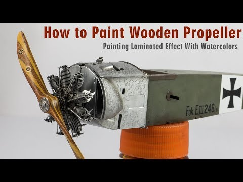 How to paint wooden propellers  Step by Step Tutorial V.2